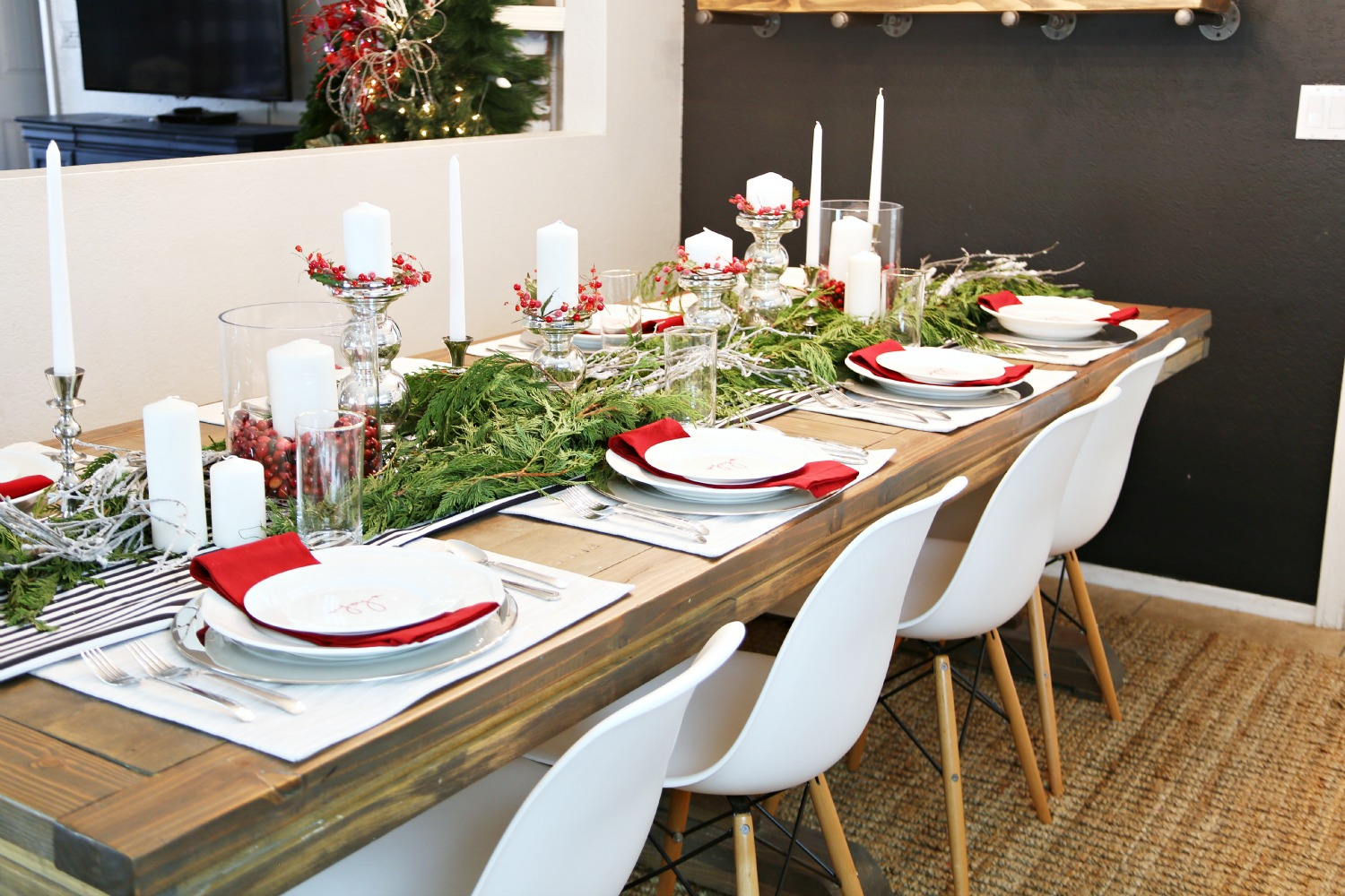 IMG_8379 & Festive Tablescape for a Holiday Dinner Party - Classy Clutter