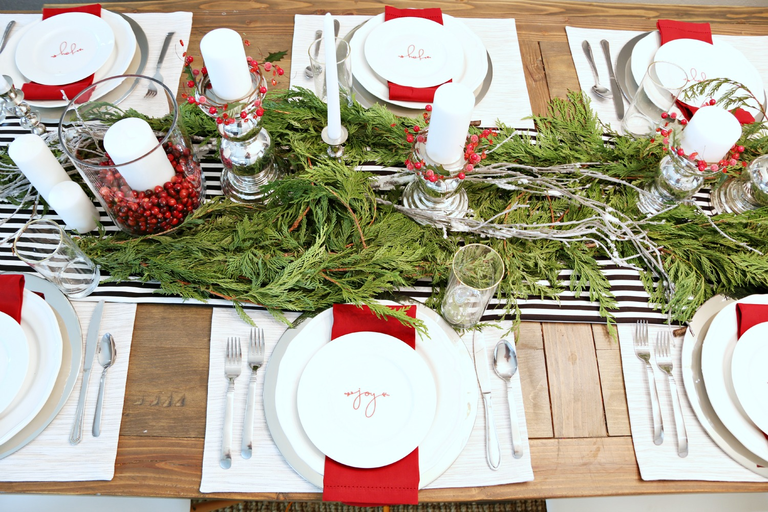 I really love every element of the tablescape. Everything that I got from Crate and Barrel I can use for other dinner parties throughout the year and I also ... & Festive Tablescape for a Holiday Dinner Party - Classy Clutter