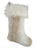 Snow Leopard Faux Fur Stockings