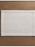 White Grasscloth Placemat