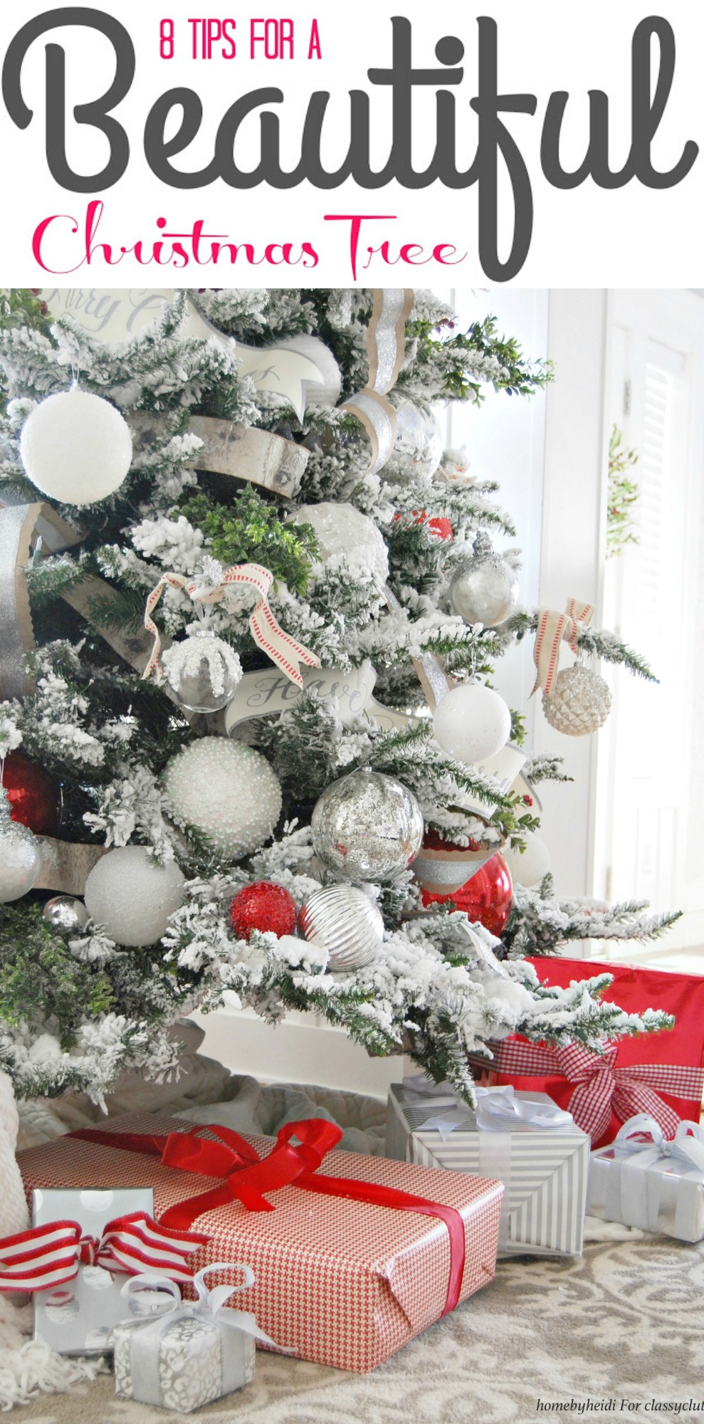 8 tips for a Beautiful Christmas Tree - Click for tutorial