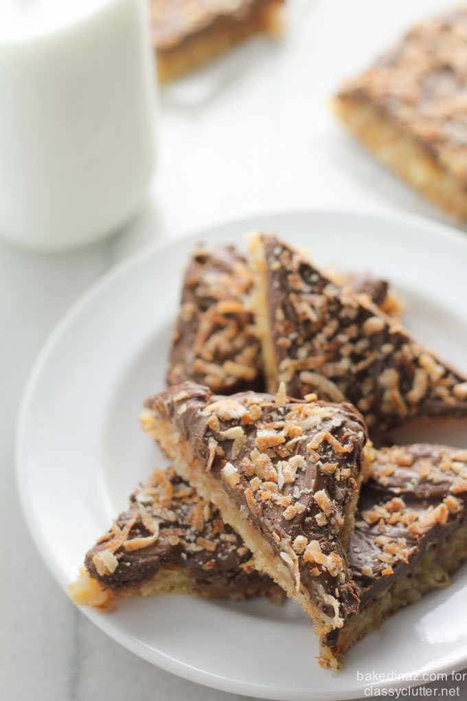 Chocolate Coconut Crescent Bars