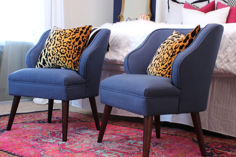 Navy Blue Chairs - www.classyclutter.net