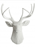 White Faux Taxidermy Deer