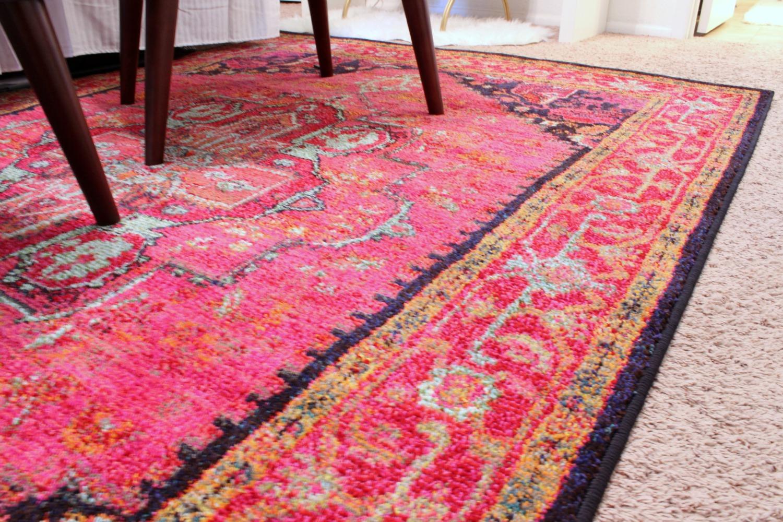 Vibrant Pink Rug - www.classyclutter.net