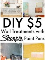 Wall Treatments with Sharpie Paint Pen