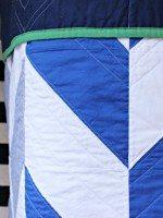 Blue Herringbone Quilt