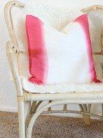 DIY Dip Dyed Pillow