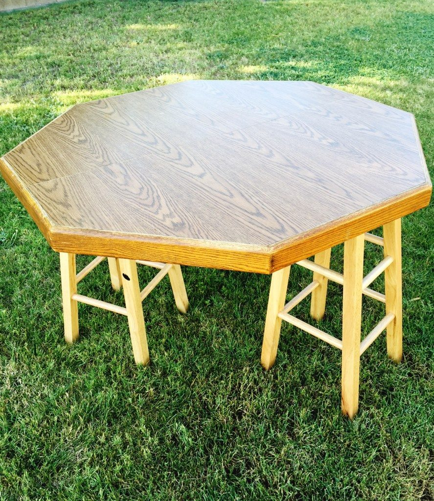 DIY Hexagon Table - Click for tutorial
