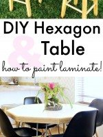 DIY Hexagon Table & how to paint laminate!