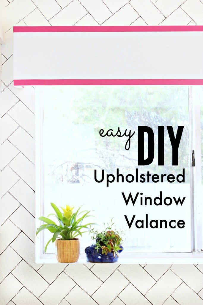 DIY Upholstered Window Valance - This is so cute! - Click for tutorial