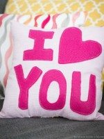 """I love you"" pillow"