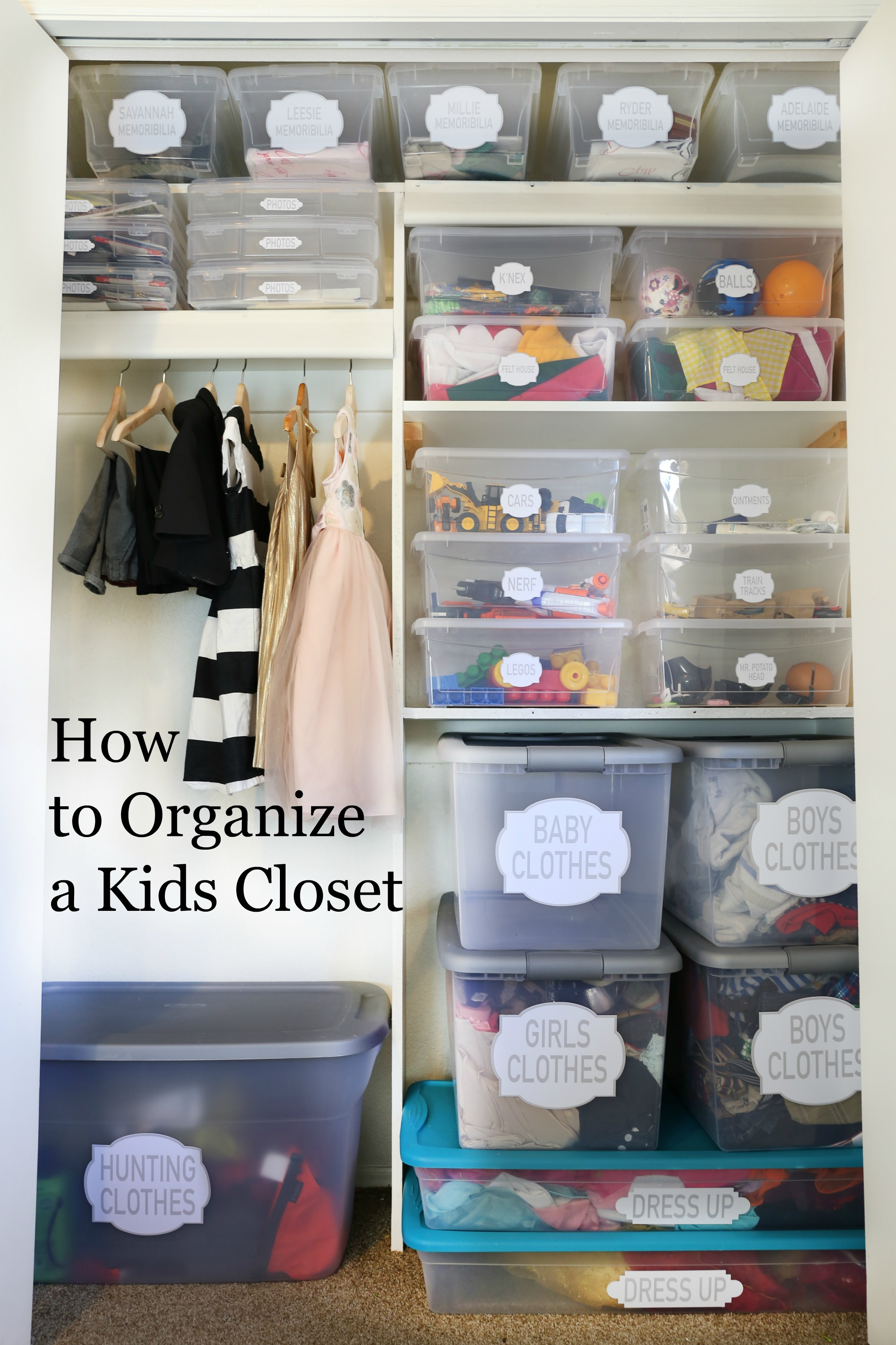 How to organize a kids closet classy clutter How to organize your clothes without a closet