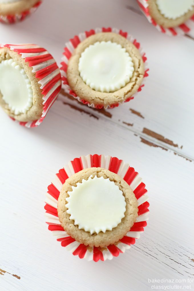 White Chocolate Peanut Butter Cookie Cup