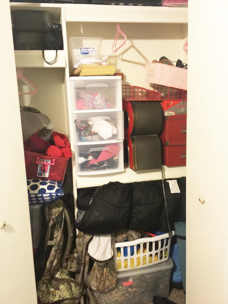 organize closet before