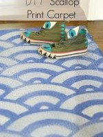 DIY Scallop Print Carpet