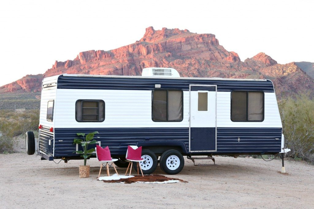 camper makeover how to repaint a travel trailer