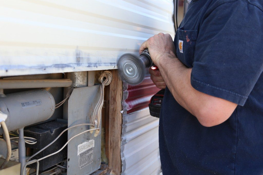 Camper makeover how to repaint the exterior mtd vanities Outside paint for wood