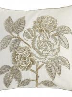 Beaded Rose Pillow