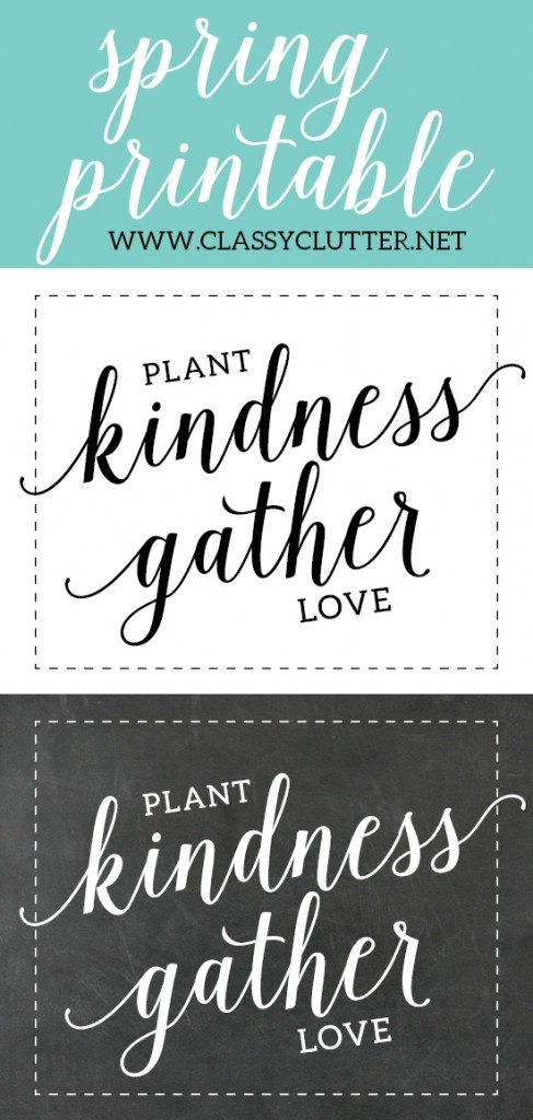 Spring Printable by Paperelli for Classy Clutter