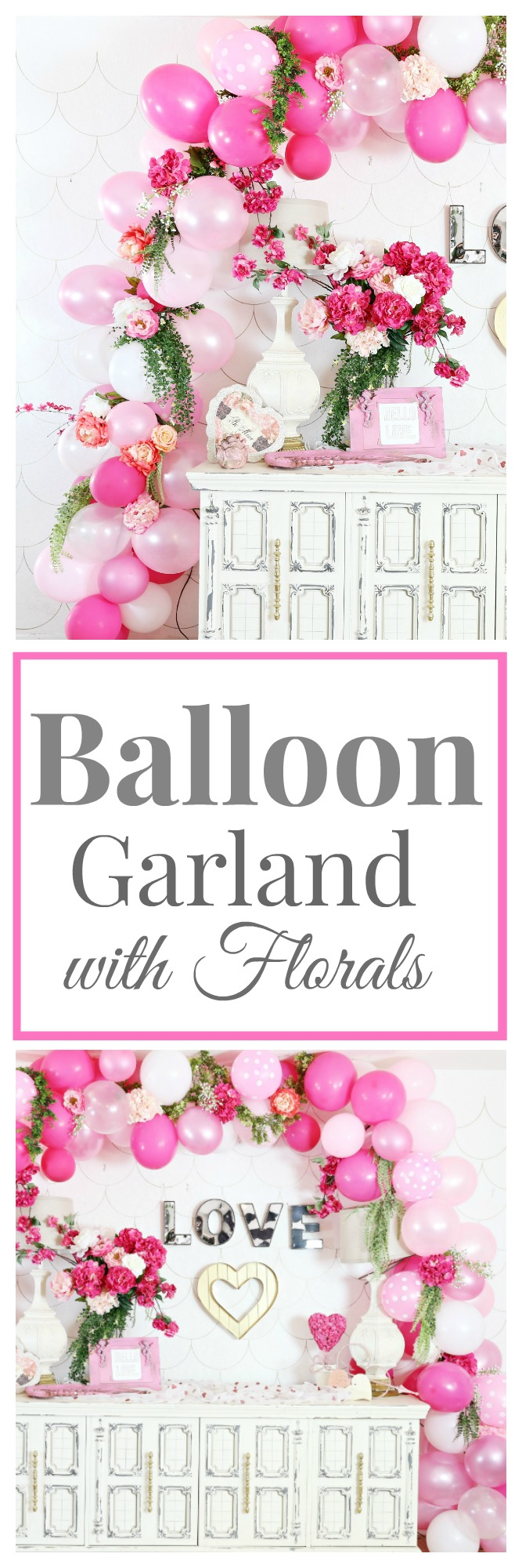 Diy Balloon Garland With Florals Awesome Party Decor Classy Clutter