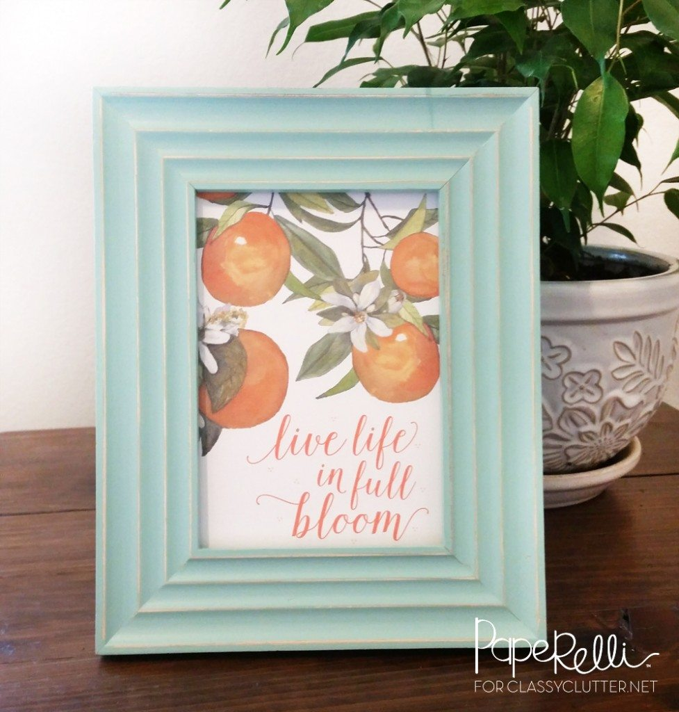 Live Life in Full Bloom Printable - Paperelli