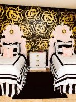 Black and Gold Girls Room