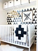 Love this closet turned nursery nook! - Click for more
