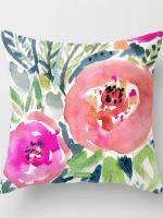 Floral Watercolor Pillow