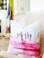 This watercolor cactus pillow is what dreams are made of! LOVE the pink!