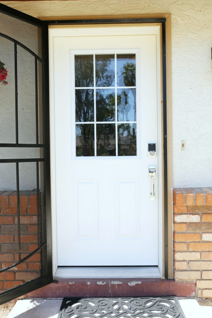 How To Paint A Front Door Without Removing It Classy Clutter - Painting-an-exterior-door