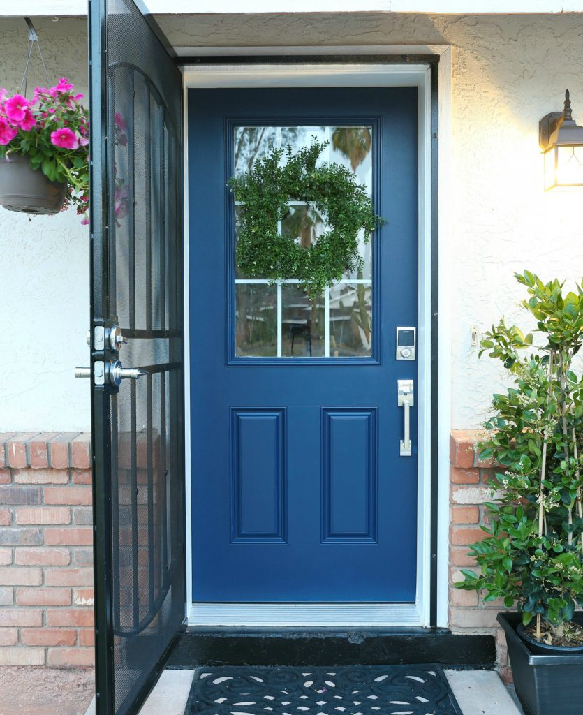 How to paint a door with scotchblue classy clutter for Exterior door paint