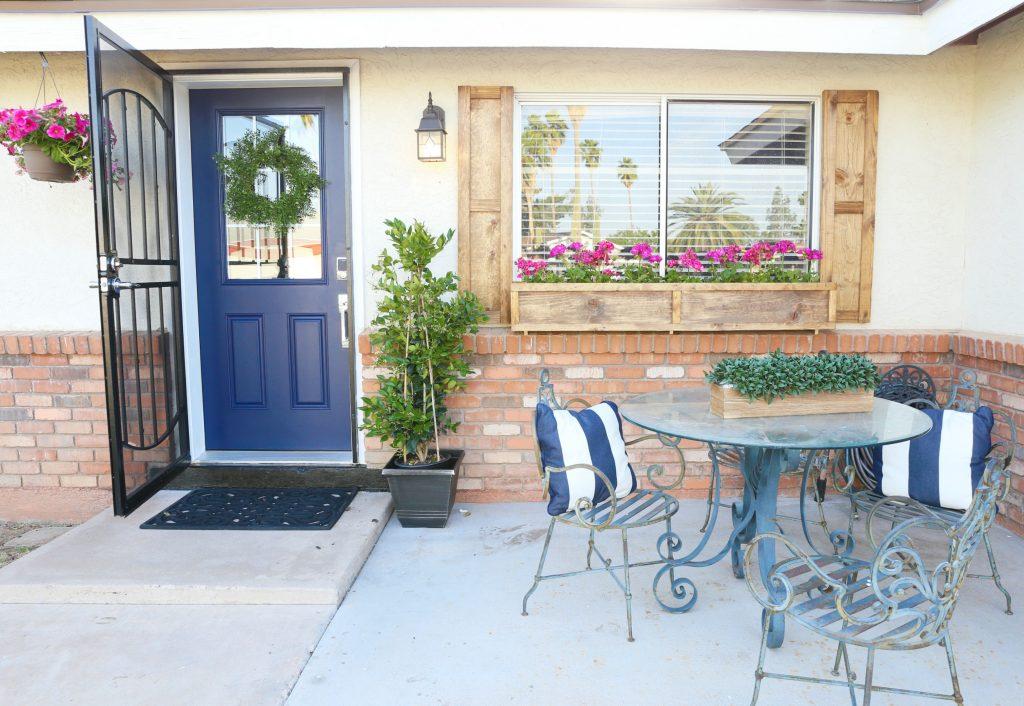 Blue Front Door DIY Painting