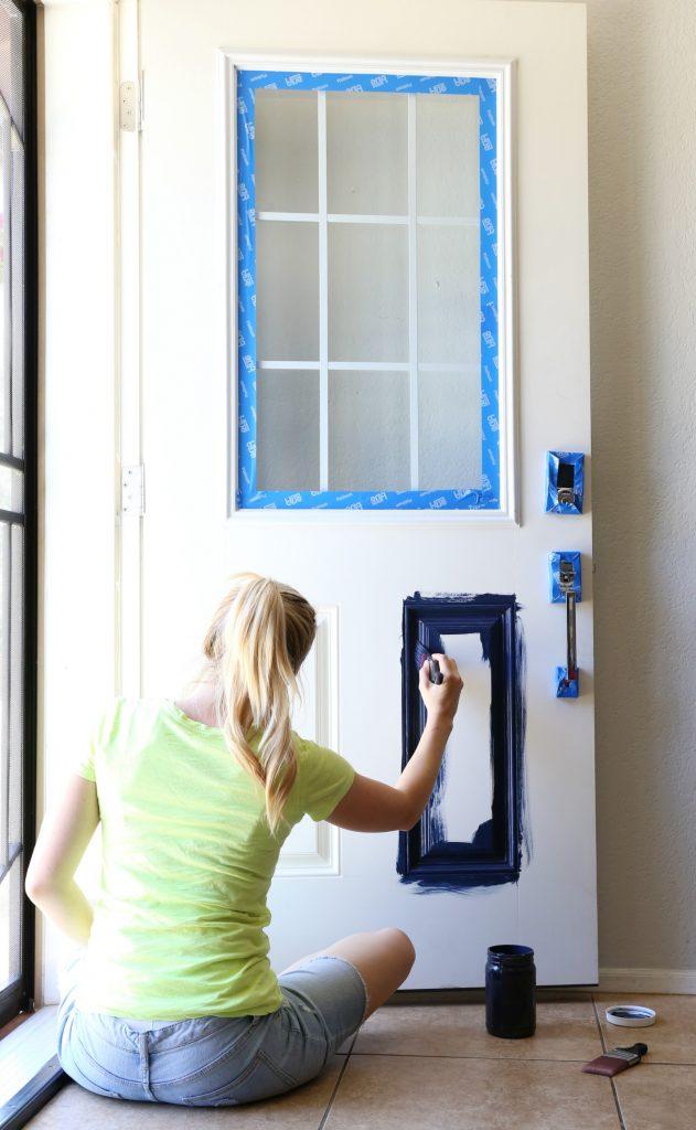 Painting Details Of Front Door First