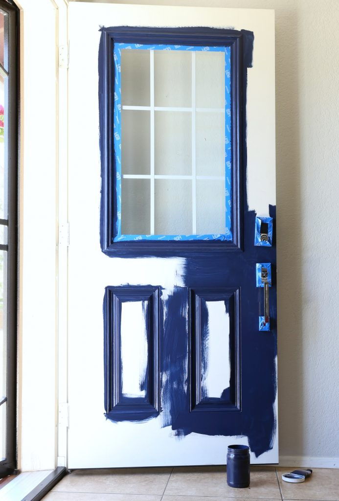 Blue Paint on Front Door