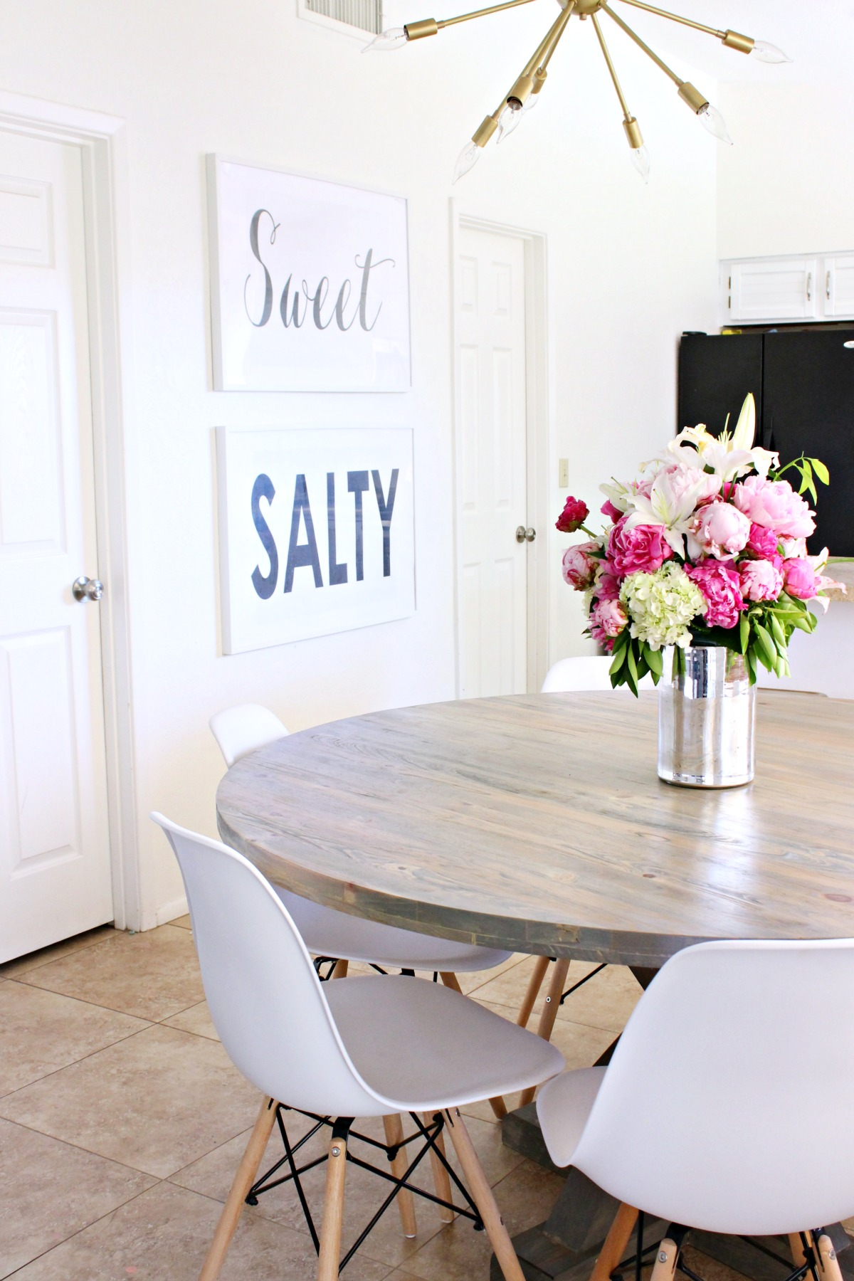 DIY Jax Pedastal Dining Table - www.classyclutter.net