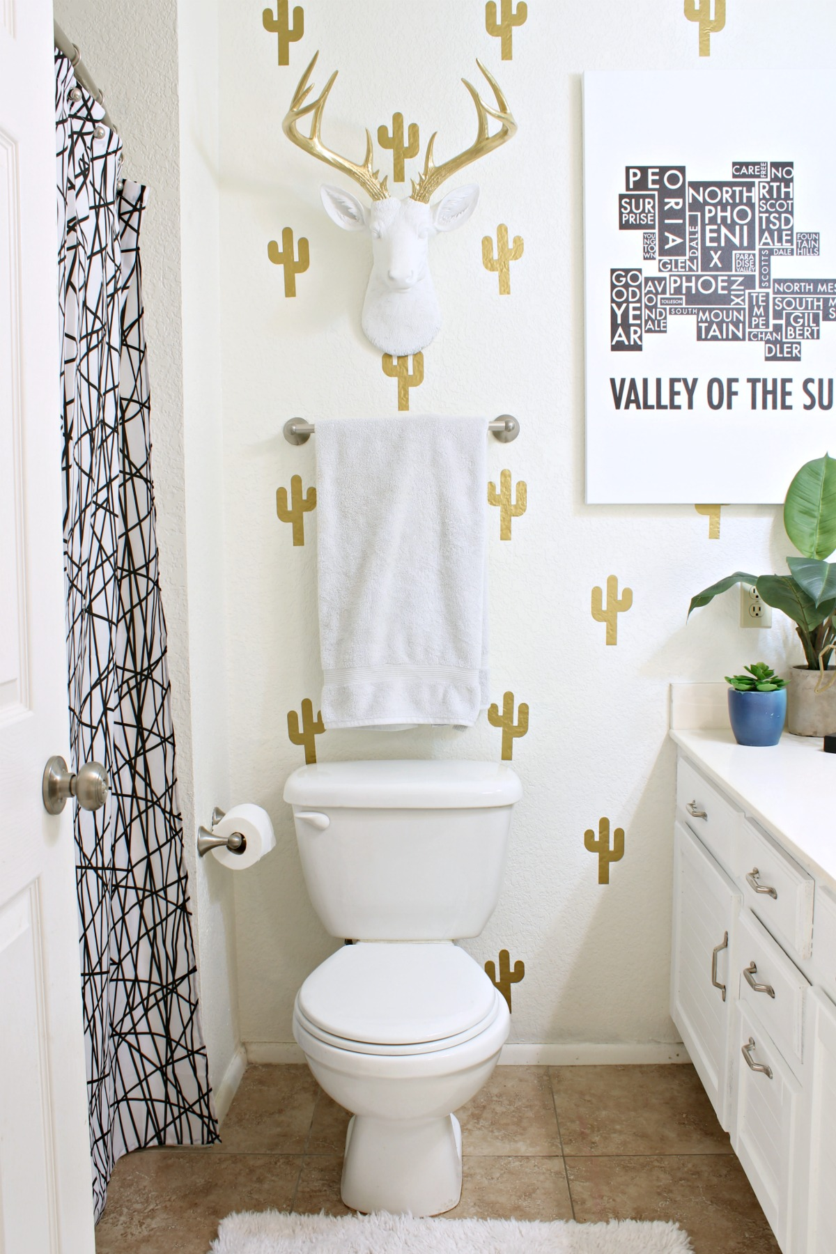 DIY Bathroom Makeover - www.classyclutter.net