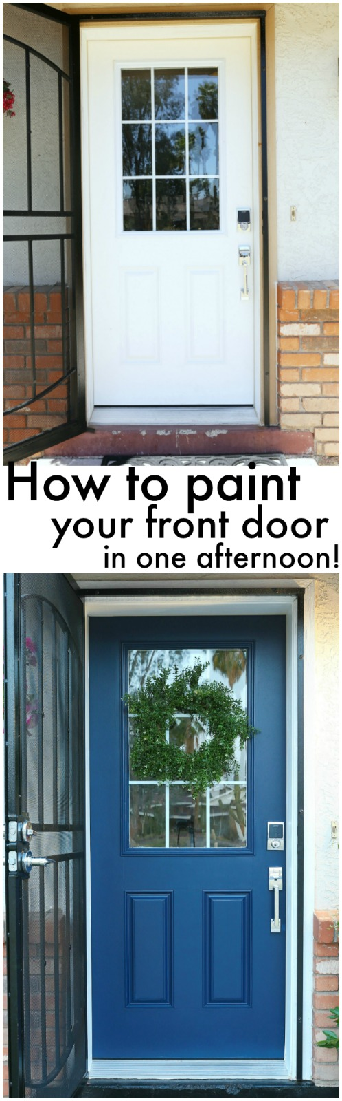 How to paint your front door - www.classyclutter.net
