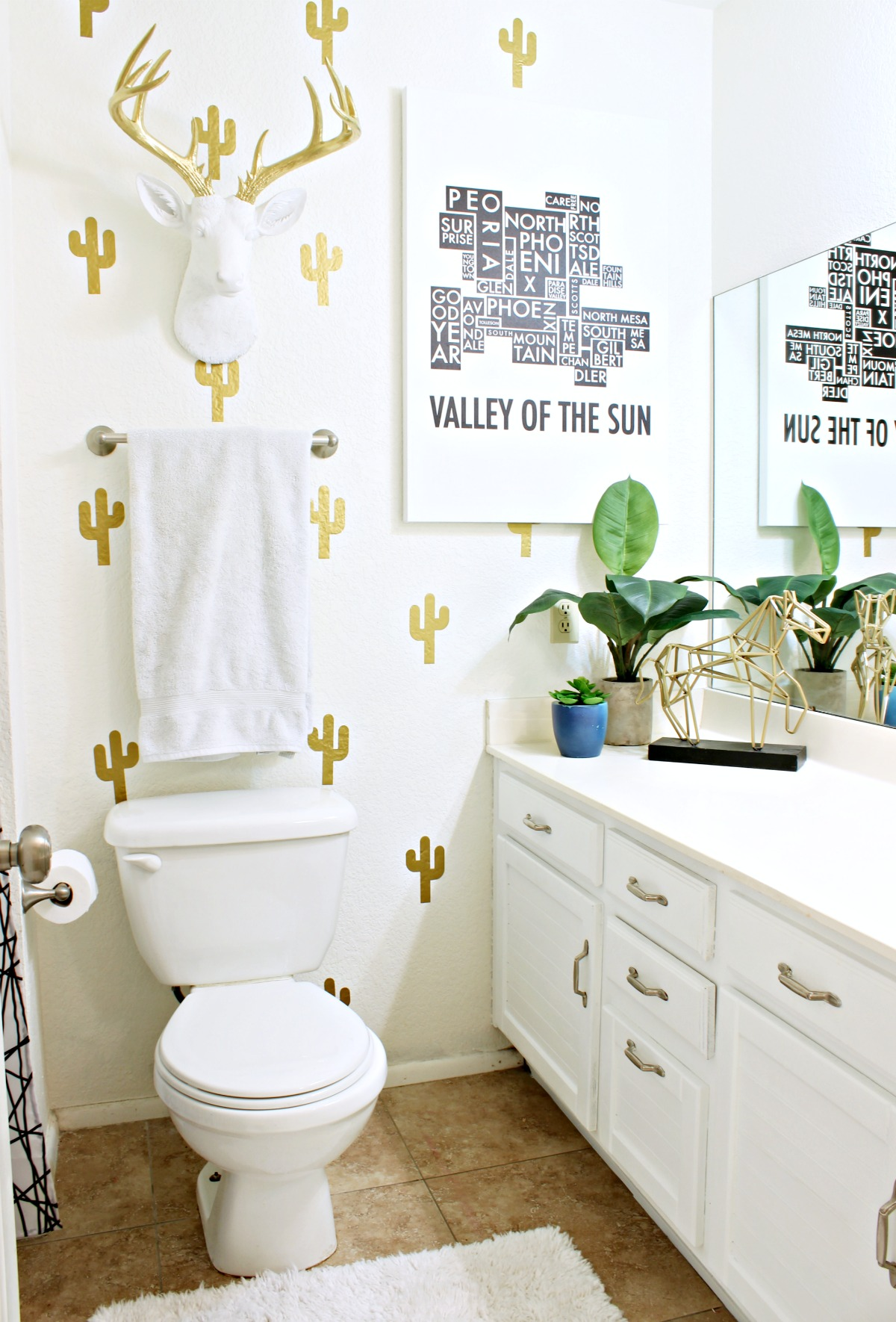 How to paint a bathroom vanity - Classy Clutter