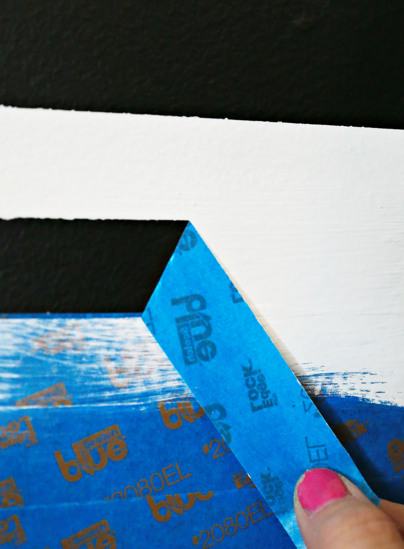 10 - After paint, remove tape