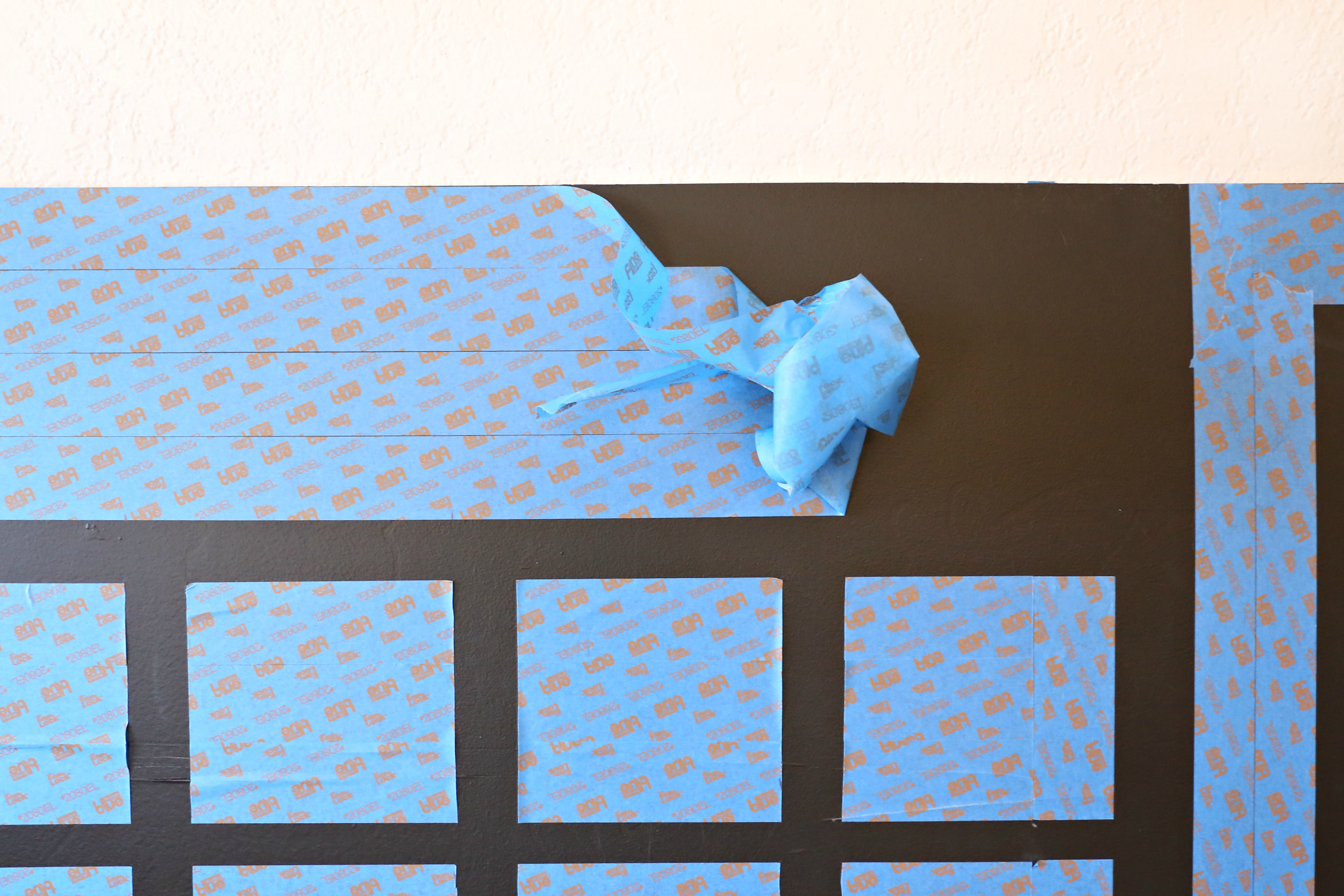 7- Peel off border tape