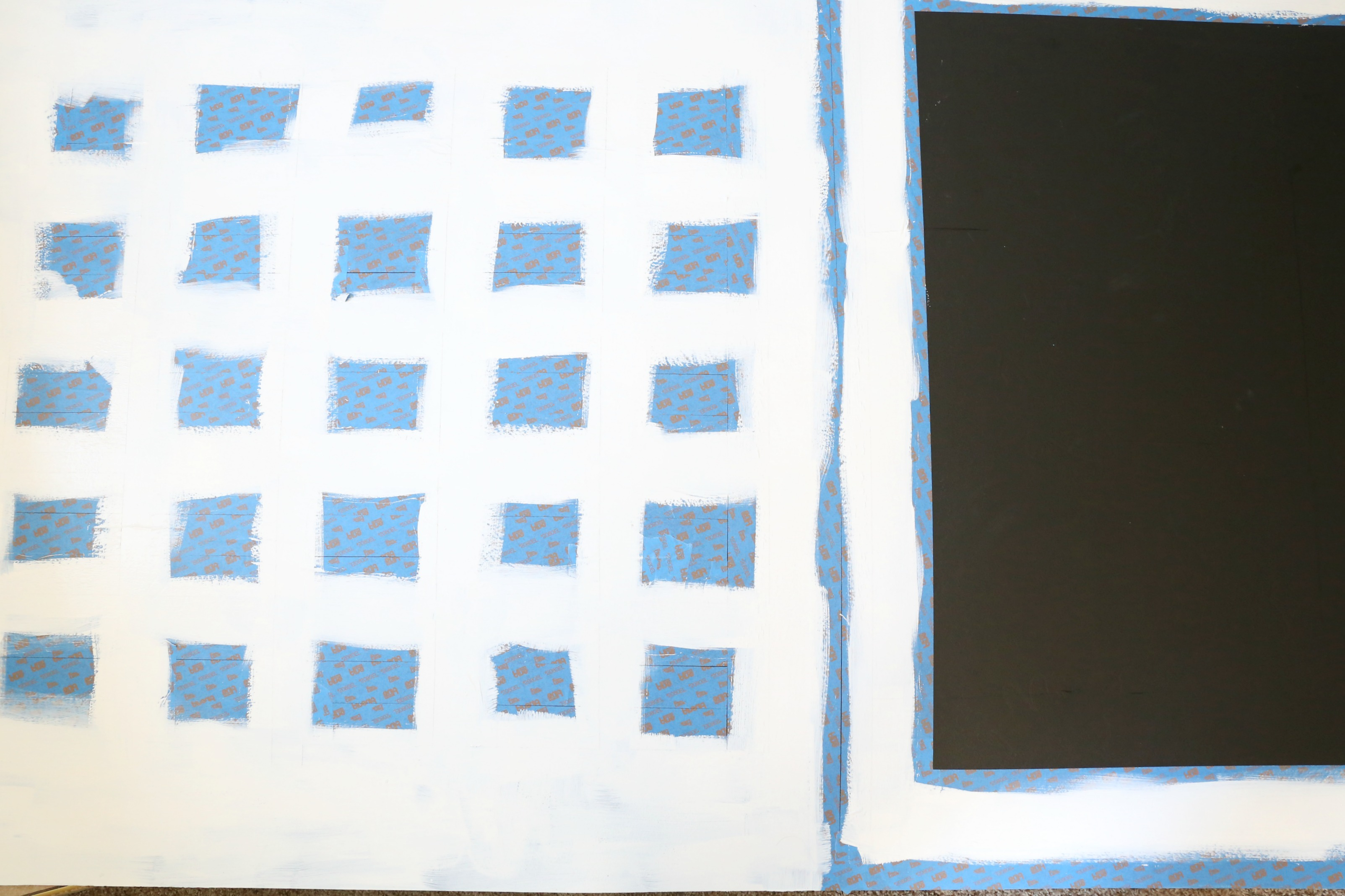 9- Paint around squares