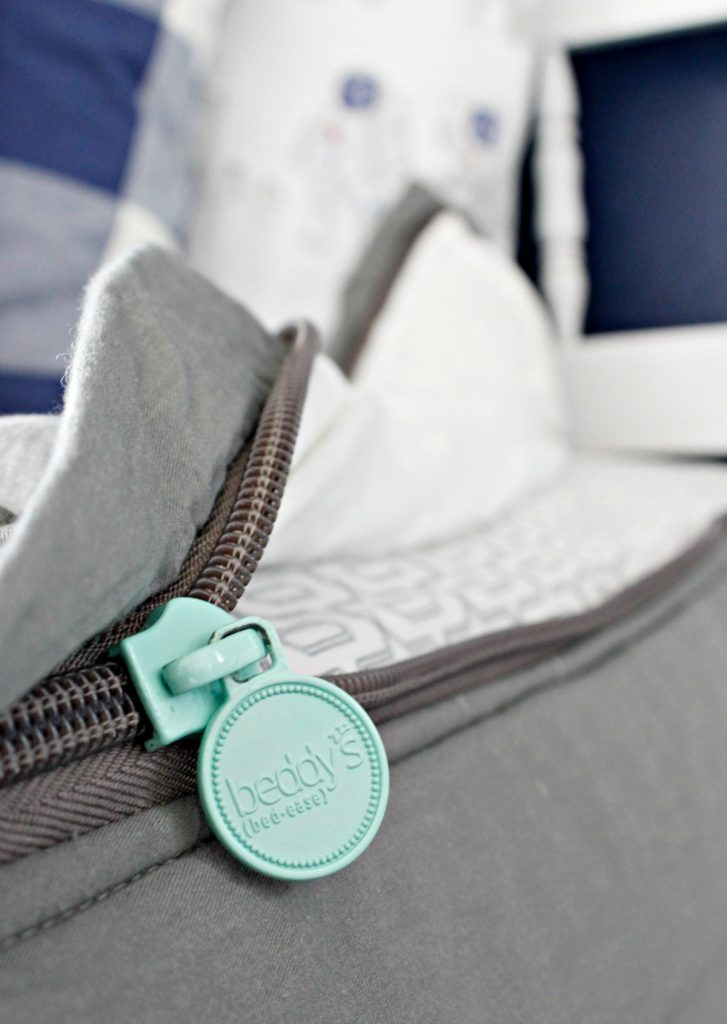 Beddy's + Classy Clutter Modern Grey Zipper