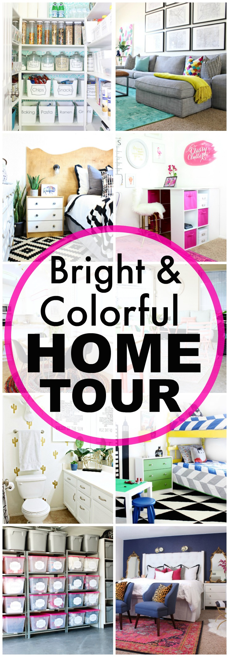 Bright and Colorful Home Tour - www.classyclutter.net