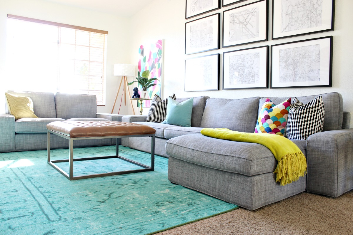Colorful Living Room Makeover