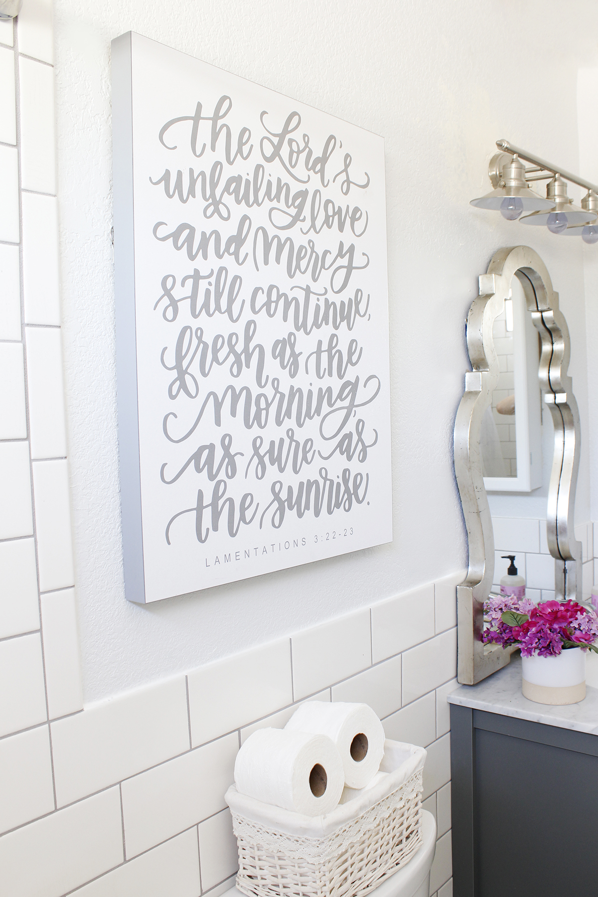Guest Bathroom Makeover - www.classyclutter.net