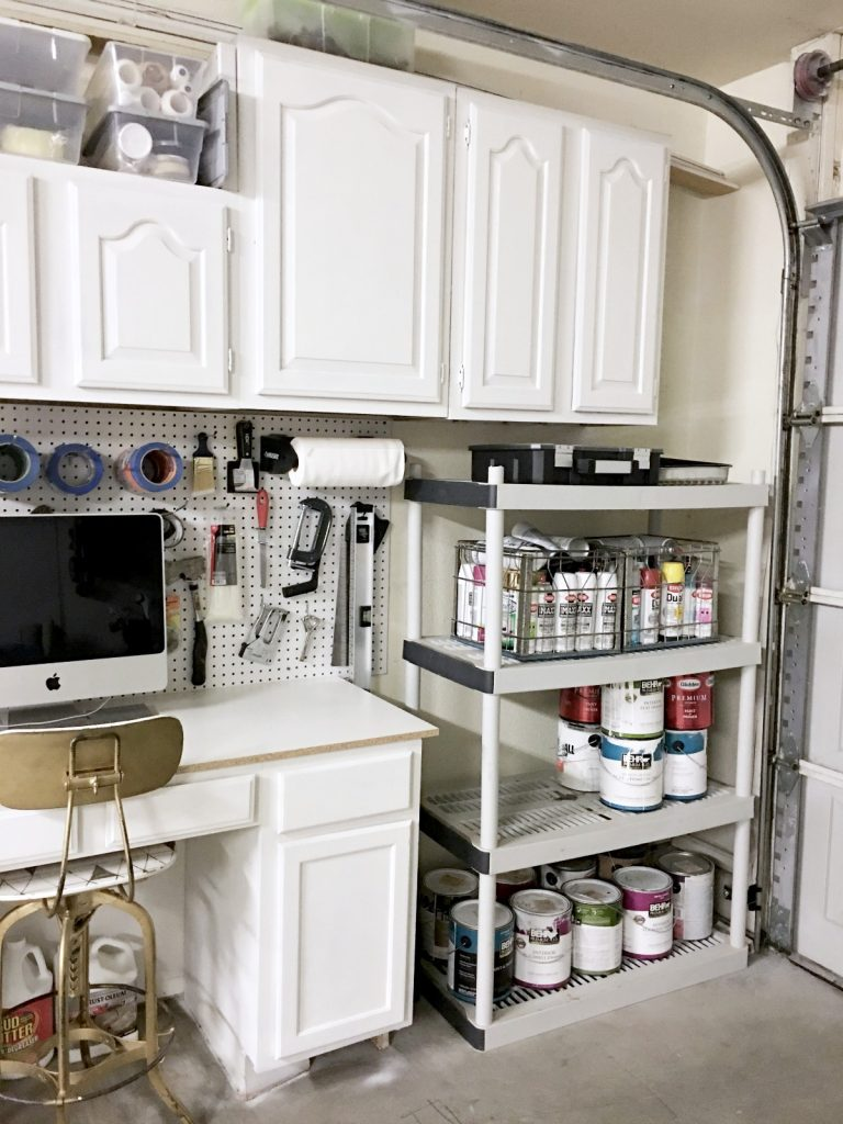 garage-makeover-tools-and-paint-storage