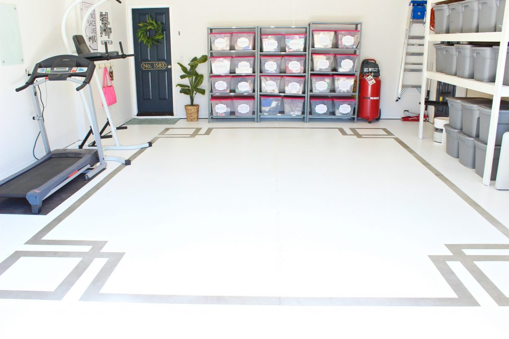 Painted Concrete Floor Garage