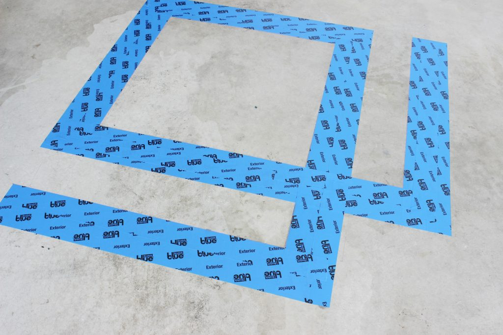 Concrete Floor Paint Tape Design