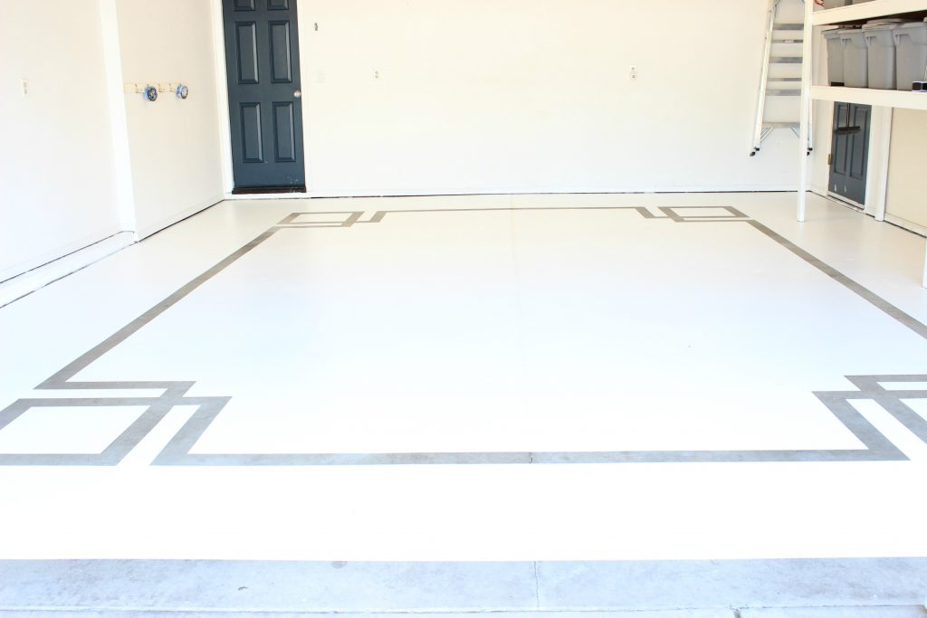 Concrete floor paint design